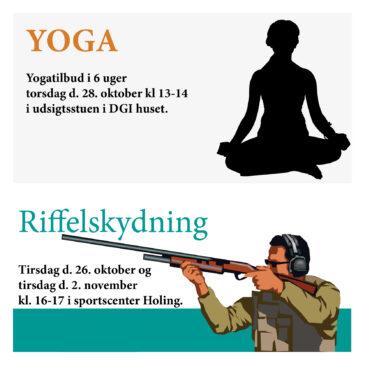 Yoga og riffelskydning